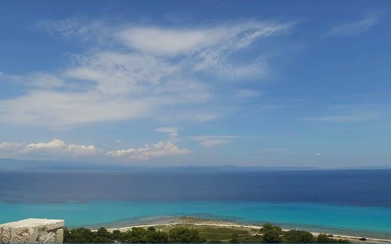 Афитос, пляж